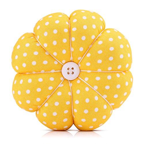 Alfombrilla de coser Costura floral Diseño de calabaza Kit de costura Alfileres de almacenamiento para la bandeja extraíble Alfiletero incorporado Cojín Nociones Paquete Muñequera Decoración(#