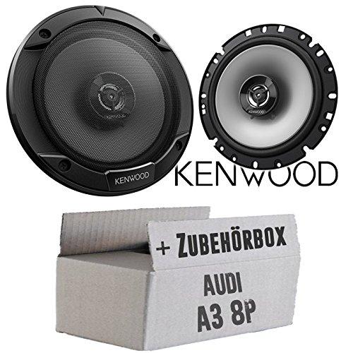 Lautsprecher Boxen Kenwood KFC-S1766-16cm 2-Wege Koax Auto Einbauzubehör - Einbauset für Audi A3 8P - JUST SOUND best choice for caraudio