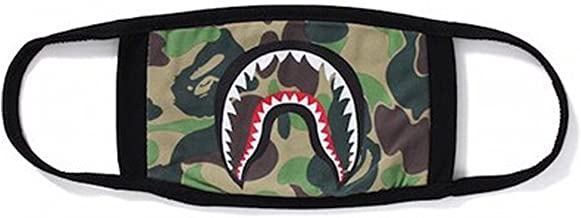 1 Pack Camping First Aid Kits Bape Black Black Shark Face Mask
