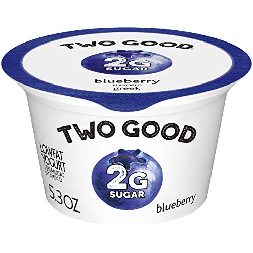 Two Good Lowfat Greek Yogurt, Blueberry, Lower Sugar, 5.3 oz.