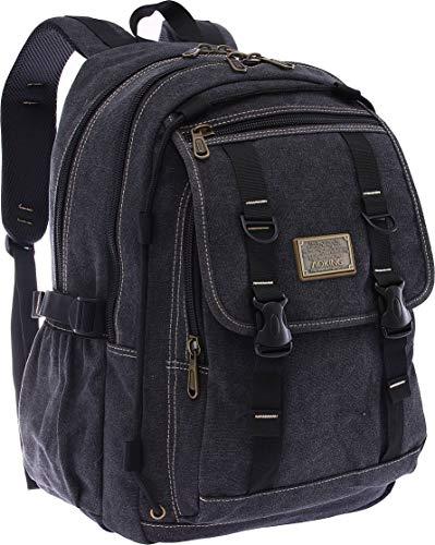 Aoking Mochila de lona para hombre, 30 L, mochila para universidad, deporte, exterior, viaje, mochila grande, para escuela, aprox. 45 cm x 30 cm x 15 cm