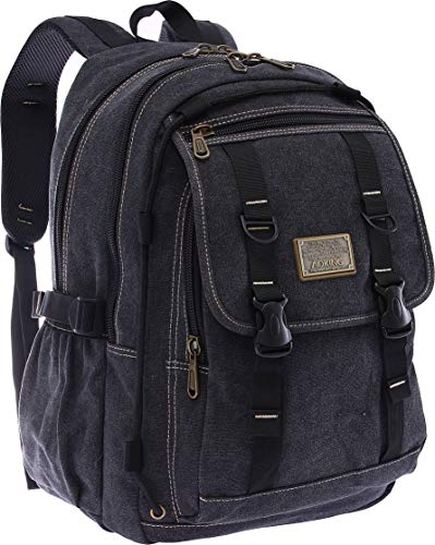 Aoking Canvas Rucksack Herren 30L Rucksack Backpack Backpack für Uni Sport Outdoor Reise großer Rucksack für Schule Schulrucksack ca. 45 cm x 30 cm x 15 cm