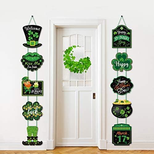 St Patrick s Day Party Banner Decorations Hangging Door Decor Indoor Outdoor Shamrock Leprechaun product image