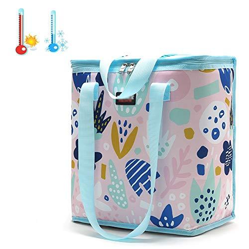ZXZXZX Bolsa Térmica Folded Bolsa Isotérmica de Almuerzo Nevera 22 L con Forro Aislamiento Térmico Genial Impermeable Bolsa de Enfriamiento para Comidas Frutas para Playa Picnic Barbacoa