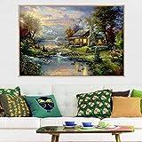 Thomas Kinkade Canvas Wall Art Landscape Oil...