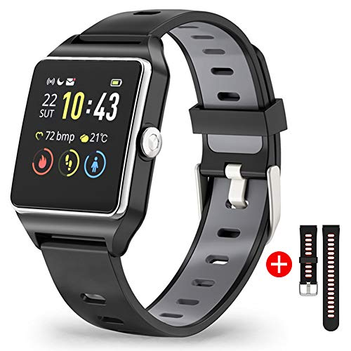 Smartwatch GPS Orologio Fitness Uomo Donna Impermeabile IP68 Smart Watch Cardiofrequenzimetro da Polso Contapassi Smartband Activity Tracker Bambini Cronometro per...