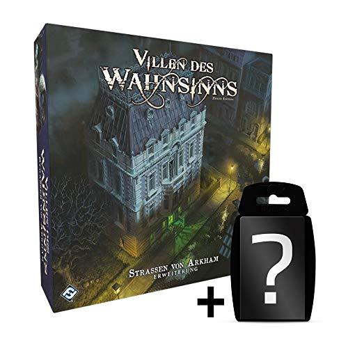 yvolve Villen des Wahnsinns: Straßen von Arkham - Brettspiel Erweiterung-3 | DEUTSCH | Set inkl. Kartenspiel