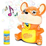 KULARIWORLD Bubble Machine Toy, Automatic Leakproof Outdoor Bubble Blower Pool Toys for Kids Boys Girls, Squirrel Bubble Maker Bubble Gun with Solution,1000+ Bubbles per Minute