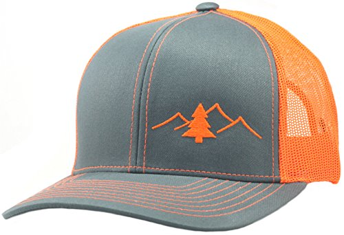 LINDO Trucker Hat - Great Outdoors Collection (Graph/Orange)