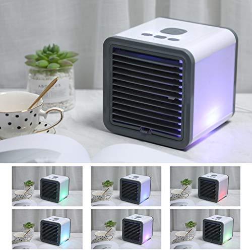 Xniral Mobile Klimaanlage Klimaanlage Klimagerät Mobil Luftkühler Air Cooler Mini USB Camping Ventilator, 3 Geschwindigkeiten für Schlafzimmer Wohnzimmer Büro Reise(Weiß)