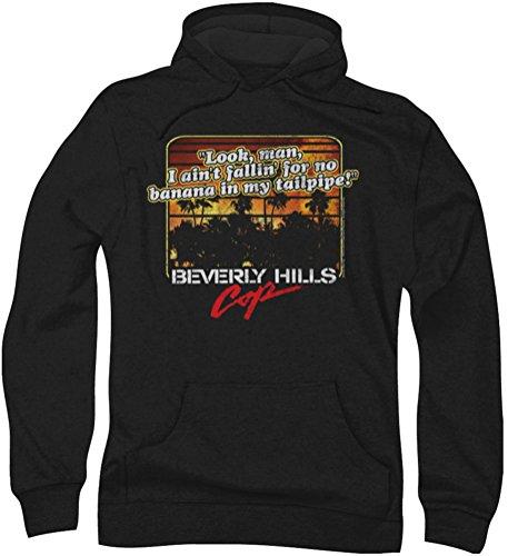 Beverly Hills Cop - - Banana Men In My Tailpipe Hoodie, Large, Black