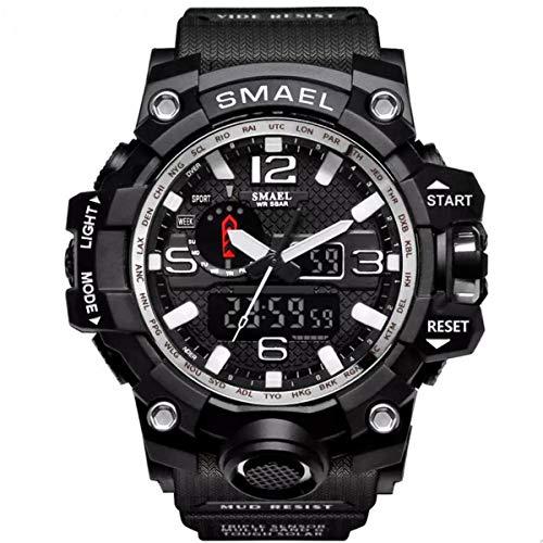 Relógio Masculino Smael G-Shock 1545 Militar - Preto e Prata