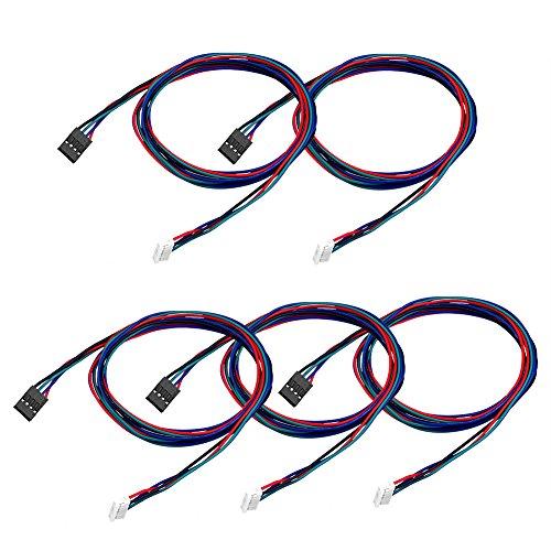 SIENOC Schrittmotor Kabel Schrittmotorkabel 100 cm 1m lang für NEMA 17 in Reprap (5 Stück)