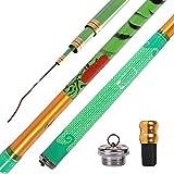 JIAGU Mosca de caña de Pescar 5,4 M / 5.7m Estación de la caña de Pescar Crucian Carp Mano Rod Gear Pesca Barras de Mosca de Agua Dulce (Color : Green, Size : 5.7m)