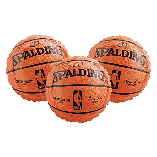Set of 3 Spalding NBA Official Game Ball Basketball 18' Foil Party Balloons
