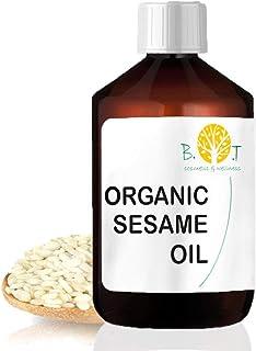 Huile de Sésame Organique filtrée et désodorisée (1000 ml) Huile ayurvédique Huile de Massage pure