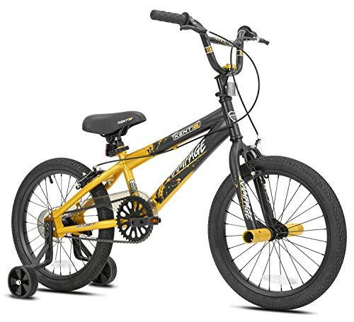 Kids Bike Boys 18-inch Wheels Bicycle Training Wheels Brake Free- Style BMX Ride