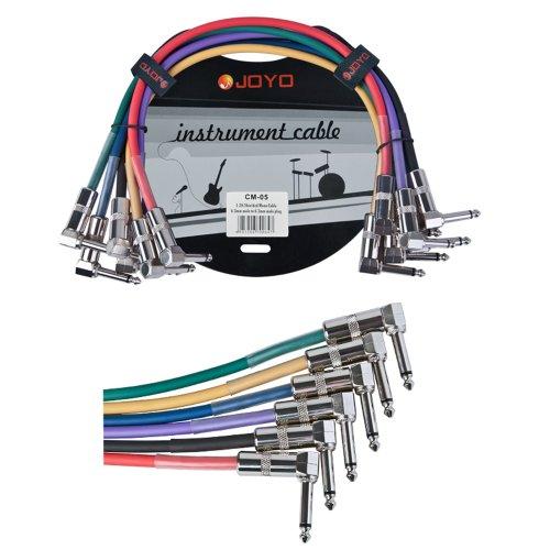 JOYO CM-05 6.3 mm Mannelijk naar 6.3 mm Mannelijke Plug Afgeschermde Mono Kabel, 1.2' Lengte (Pak van 6)