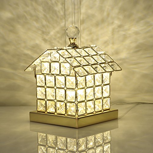 Led Cristal Lampe de Table Moderne Style Romantique Atmosphère Éclairage pour Salon Chambre Art Déco Maison Forme Or Argent (Couleur : Or)