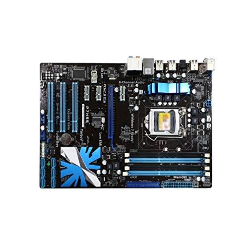Xiatian Tablero de reemplazo de computadora ATX PLACKERGER Fit For ASUS P7H55 Placa Base LGA 1156 DDR3 16GB H55 Placa Base De Escritorio Placa Base de computadora de Escritorio