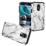 Z-GEN - Galaxy J7 2018, J7 Refine, J7 Star, J7 Crown, J7 Aura, J7 Top, J7 V J7V 2nd Gen J737 - Hybrid Image Phone Case for Samsung + Tempered Glass Screen Protector - AD1 Marble