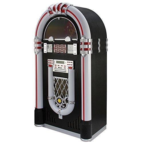 MonsterShop - Jukebox Años 50 con Vinilo, CD, USB, Bluetooth, SD/MMC Memory...