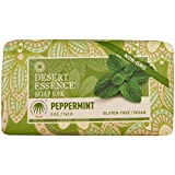Desert Essence Peppermint Soap Bar - 5 Ounce - Pack of 2 - Cleanse & Soothes Skin - Tea Tree Oil - Aloe Vera - Jojoba Oil - Refreshing Rich Scent - Acne - Invigorating Moisturizer