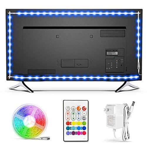 BASON LED-Lichtleiste mit USB-betrieben, TV-Hintergrundbeleuchtung, Heimkinobeleuchtung für 32 bis 46 Zoll Flachbildfernseher von BASON LIGHTING