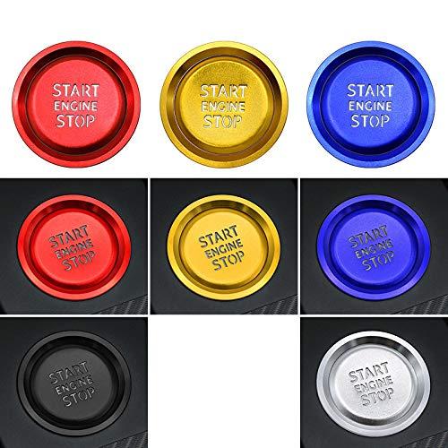 zzwllong Accesorios de Coche Interior del Motor botón de Arranque y Parada Anillo translúcido decoración de la Cubierta de la Caja, para Audi A3 8l 8p 8V A4 B6 B8 B9 A5 A6