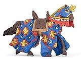 Papo Blue Fleur De LYS Horse Figure, Multicolor