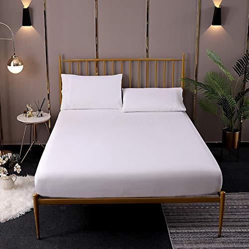 NTtie Protector de colchón de bambú Funda de colchón y Ajustable Colcha de protección de colchón de sábana cepillada de Color Puro