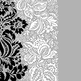 Dining Collection Decorative Pattern Paper Lunch Napkins - Black and White Buds, 20 Count, 6.5 inch