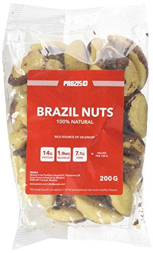 Prozis 100% Natural Brasil Nuts 200g - Eccellente Fonte di Proteine, Fibre e Grassi Sani - Adatto a Vegetariani e Vegani - 11 Porzioni