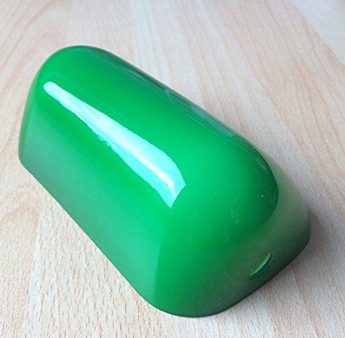 Lampenglas für Banker Lampe 15 cm, Ersatzschirm , Bankers-Glas ,Schirm ,Glas ,Glasschirm , Lampenschirm ,Ersatzglas für Bauhaus Stil ,Landhaus Tischlampe Leuchte in grün