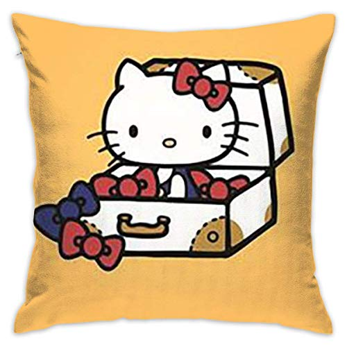 Once Kitty's in The Suitcase Decorative Throw Pillow Case Cushion Cover 20x20Inch(50cmx50cm)