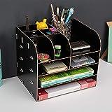 YzDnF Sistemi di smistamento Posta Grande Desktop Storage Box cassetto File Legno Rack File Cornice in Legno Informazioni Rack Documento Display e Bagagli (Color : D, Size : 32x25x27cm)