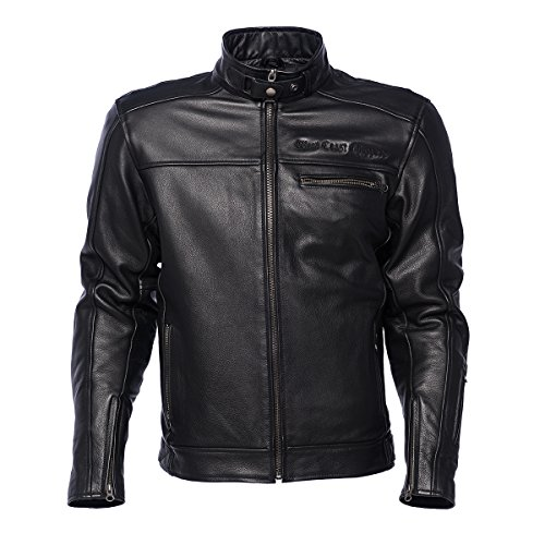 WEST COAST CHOPPERS WCC Motorrad Lederjacke Jacket CFL Black-XXL