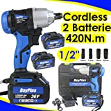 <span class='highlight'><span class='highlight'>ZanGe</span></span> Cordless Impact Wrench Electric Screwdrill 2x6.0A Li-ion Battery 1/2