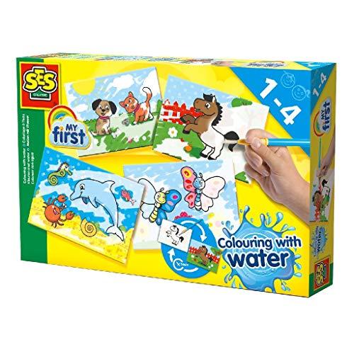 SES-Creative- Colora con l'Acqua, Multicolore, 14421