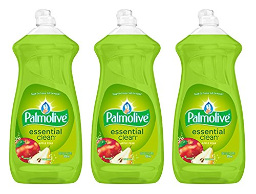 Palmolive Dish Liquid, Essential Clean, Apple Pear, 28 Fluid Ounce (Pack of 3)