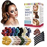 Hair Bands Set, Hair Accessory Scrunchies Set, Elastic Hair Bands, Ties Ropes Ponytail Holder No hurt, Soft Hair Accessories for Women or Girls For Various Occasions