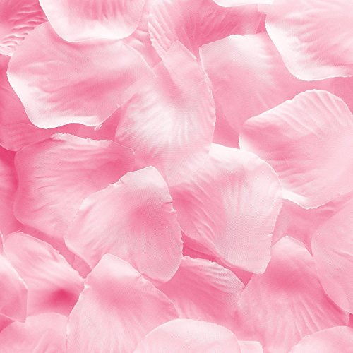 1000pcs Light Pink Silk Rose Flower Petals Wedding Table Scaters Confetti Favor Bridal Party Decoration
