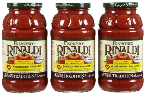 Francesco Rinaldi Traditional Pasta Sauce, No Salt Added