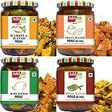 Add me Best Seller 4 in 1 Mango Pickle Combo Pack. Add me Ramkela Mango Pickle 500 gm, Sweet Mango Pickle 600 g, Rajasthani aam Pickles 500g, Hing Lonji Mango Pickle 500 gm Oil Free Total 2.1kg