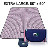 MIU COLOR Large Waterproof Outdoor Picnic Blanket, Sandproof and Waterproof Picnic Blanket Tote for...