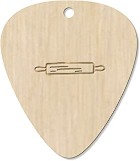 7 x 'Rolling Pin' Guitar Picks / Pendants (GP00014027)