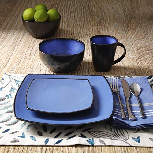 Ensemble de Vaisselle 16 Pièces Gibson Home en Blue, Service pour 4 - 7