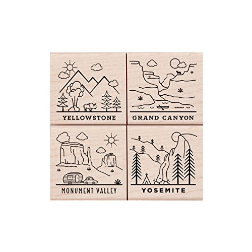 Hero Arts LP445 Woodblock Stamps, National Parks Poetic Prints
