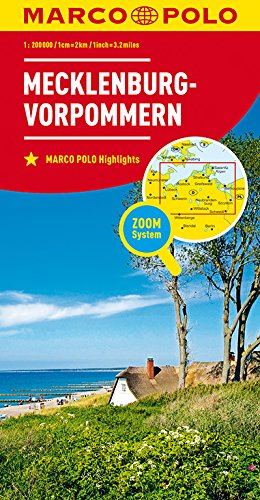 MARCO POLO Karte Deutschland Blatt 2 Mecklenburg-Vorpommern 1:200 000: Wegenkaart 1:200 000 (MARCO POLO Karten 1:200.000)