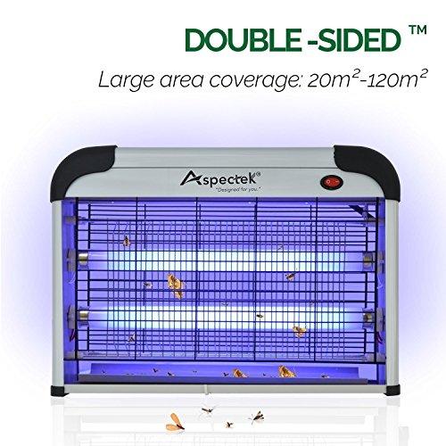 Aspectek Powerful 20W Electronic Indoor Insect Killer, Bug Zapper, Fly Zapper, Mosquito Killer.